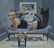 JAMES MCNAUGHT (BRITISH, 1948-) HIGH HEELS, 2006 Gouache on paper: 11 x 12 in. (sight)