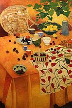 CHRISTIAN DALIBERT (FRENCH, 1946-) LA TAJINE AUX CITRON Oil on canvas: 52 x 35 in.