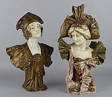 ART NOUVEAU H. JACOB PORCELAIN AND SPELTER BUST OF A MAIDEN