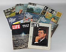 COLLECTION OF VINTAGE MAGAZINES INCLUDING LIFE MAGAZINE'S COVERAGE OF KENNEDY'S ASSASSINATION AND THE APOLLO 12 MOON LANDING