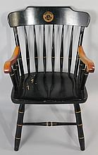 MIAMI UNIVERSITY, OHIO, ALUMNI SPINDLE BACK MAPLE UNIVERSITY ARM CHAIR