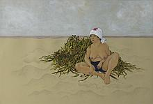 KOZYNDAN (KOZUE AND DAN KITCHENS) (JAPANESE/AMERICAN) TAKING A MOMENT, 2006 Gouache on paper: 15 x 22 in.