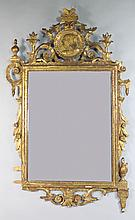 CLASSICAL CARVED GILT WOOD MIRROR, 19TH C.