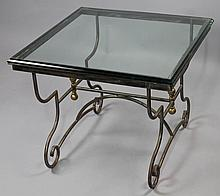 BEVELED SQUARE GLASS COFFEE TABLE