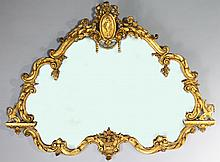 CLASSICAL STYLE GOLD PAINTED COMPOSITION WALL MIRROR