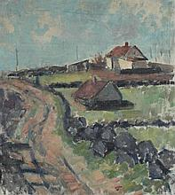 A.J. FARMLAND Oil on canvas: 22 x 19 in. (sight)