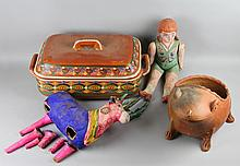 GROUP OF MEXICAN FOLK ART ITEMS