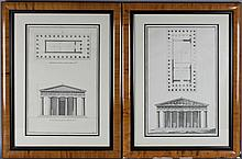 JULIEN LE ROY AND NEUFFORG A PAIR OF ARCHITECTURAL PRINTS 18 x 11 in.