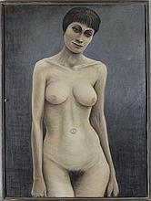 EDWIN DORRIS (BRITISH, 1940) UNTITLED, 1959 (NUDE) Oil on canvas: 32 x 34 in.