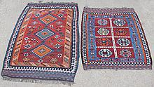 TWO CAUCASIAN WOOL KILIMS
