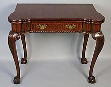 MAITLAND SMITH GEORGIAN STYLE MAHOGANY GAMES TABLE