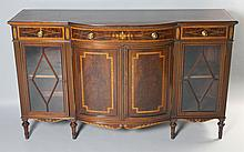 MAPLE & COMPANY, LONDON EDWARDIAN STYLE MAHOGANY AND SATINWOOD INLAID CABINET