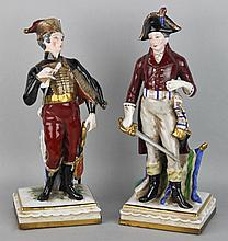 TWO CONTINENTAL PORCELAIN MILITARY FIGURES