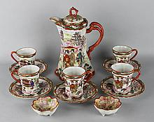 JAPANESE EXPORT PORCELAIN KUTANI STYLE PART TEA SERVICE