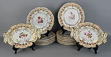 ENGLISH PORCELAIN PEACH-GROUND PART DESSERT SERVICE
