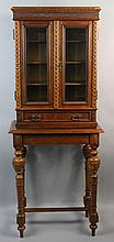 BAROQUE STYLE CARVED CABINET ON STAND