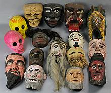 COLLECTION OF MEXICAN MASKS
