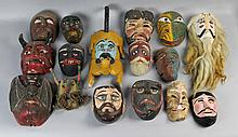 GROUP OF MEXICAN MASKS
