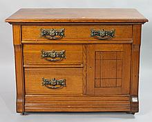 COTTAGE OAK CHEST OF DRAWERS