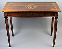 CONTINENTAL NEOCLASSICAL STYLE INLAID WALNUT OCCASIONAL TABLE