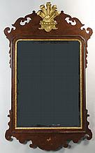 COLONIAL WILLIAMSBURG GEORGIAN STYLE GILT AND WALNUT MIRROR BY FRIEDMAN BROTHERS MIRRORS
