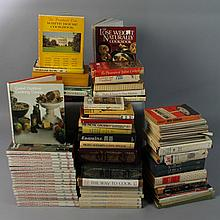 LARGE COLLECTION OF COOKBOOKS AND TRAVEL BOOKS INCLUDING GOURMET AND JULIA CHILD
