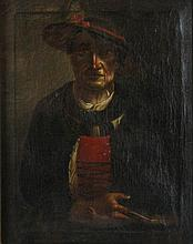 NORTHERN SCHOOL (19TH CENTURY) FIGURE IN HAT Oil on canvas: 12 x 10 in.