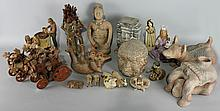 LARGE COLLECTION OF MEXICAN CERAMIC FIGURES