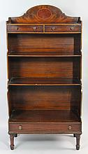 SMITH AND WATSON REGENCY STYLE MAHOGANY DWARF WATERFALL BOOKCASE