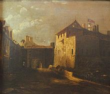 AMERICAN SCHOOL (19TH CENTURY) SOUTHERN FORT Oil on canvas: 22 1/4 x 29 3/4 in.