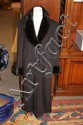BROWN CASHMERE COAT WITH MINK COLLAR AND CUFFS, SIZE 12