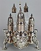 GEORGE II SILVER CRUET FRAME, SAMUEL WOOD, LONDON, 1750