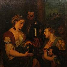AFTER TITIAN (20TH CENTURY) ALLEGORY OF MARRIAGE Oil on canvas: 30 x 29 3/4 in.