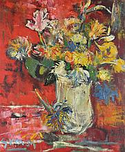 POSSIBLY LUCIEN SIMON (FRENCH 20TH CENTURY) STILL LIFE Oil on canvas: