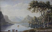 WILLIAM PARROT (BRITISH, 1813-1875) ULLSWATER Watercolor: 3 3/4 x 6 in. (sight) 10 7/8 x 12 3/4 in. (framed)