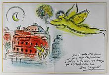 MARC CHAGALL (FRENCH/RUSSIAN, 1887-1985) HOMMAGE A GARNIER, 1965 Double page lithograph: 12 x 18 in.