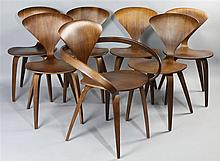 SET OF SEVEN NORMAN CHERNER DINING CHAIRS