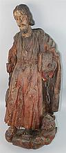 WOODEN SANTOS FIGURE OF SAINT ROCH