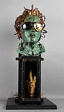 ROBERT A. NELSON (AMERICAN, 1925-) MEDUSA Mixed media sculpture