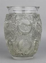 LALIQUE MOLDED AND FROSTED GLASS