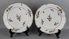 TWO FRENCH PORCELAIN PLATES