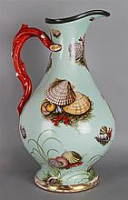 PIRKENHAMMER PORCELAIN PALE BLUE GROUND LARGE EWER