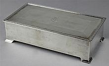 ENGLISH SILVER RECTANGULAR BOX OF ROYAL INTEREST