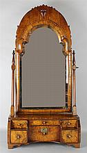 QUEEN ANNE WALNUT DRESSING MIRROR