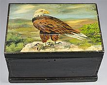 EAGLE PAINTED POLYCHROME-DECORATED BLANKET CHEST