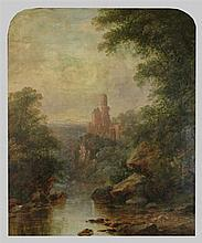ATTRIBUTED TO THOMAS DOUGHTY (AMERICAN, 1793-1856) LANDSCAPE WITH RUINS Oil on canvas: 30 x 25 in.