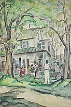 ELLEN DONOVAN (AMERICAN, 1902-1977) UNTITLED Watercolor on paper: 22 x 14 in. (sight)