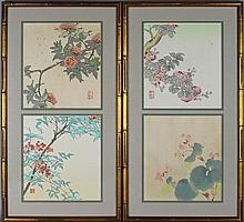 NISABURO ITO (JAPANESE, 1910-1988) FOUR WOODBLOCK PRINTS Four woodblock prints in two frames: each 10 x 11 in. (sight)