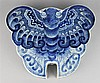 CHINESE BLUE AND WHITE BUTTERFLY-FORM SWEETMEAT DISH