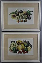 DOROTHY DRAPER A PAIR OF STILL LIFES OF FRUIT 23 x 34 in. (sight)